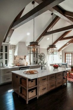 Warm Cozy Rustic Kitchen Designs For Your Cabin16