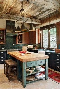 Warm Cozy Rustic Kitchen Designs For Your Cabin21