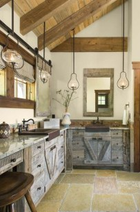 Warm Cozy Rustic Kitchen Designs For Your Cabin32