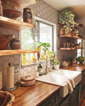 Warm Cozy Rustic Kitchen Designs For Your Cabin35
