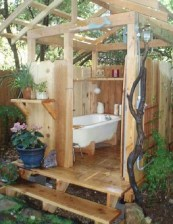 Awesome Outdoor Bathroom Ideas25