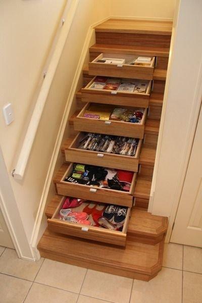 Extraordinary Stairs Storage Ideas01