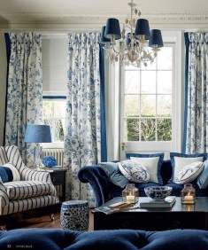 Cozy And Luxury Blue Living Room Ideas02