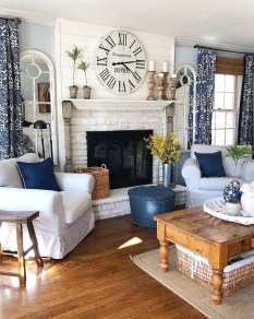 Cozy And Luxury Blue Living Room Ideas20