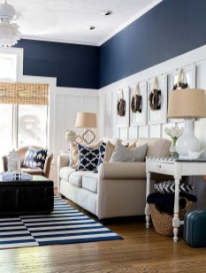 Cozy And Luxury Blue Living Room Ideas28
