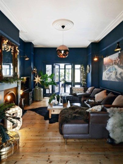 Cozy And Luxury Blue Living Room Ideas42