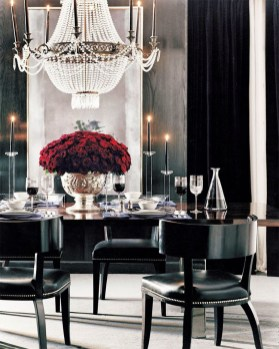 Luxurious Black And Gold Dining Room Ideas For Inspiration07