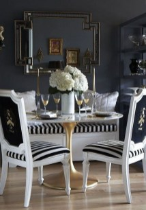 Luxurious Black And Gold Dining Room Ideas For Inspiration19
