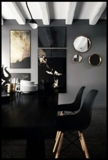 Luxurious Black And Gold Dining Room Ideas For Inspiration22
