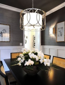 Luxurious Black And Gold Dining Room Ideas For Inspiration27