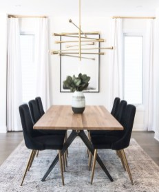 Luxurious Black And Gold Dining Room Ideas For Inspiration32