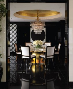 Luxurious Black And Gold Dining Room Ideas For Inspiration42