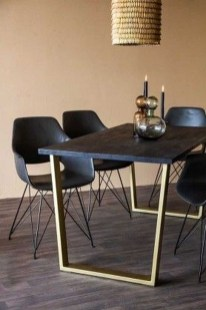 Luxurious Black And Gold Dining Room Ideas For Inspiration44