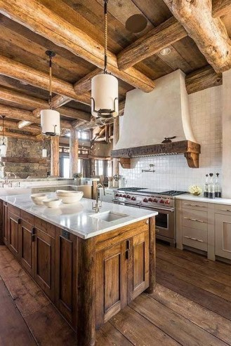 Cozy Rustic Kitchen Designs37
