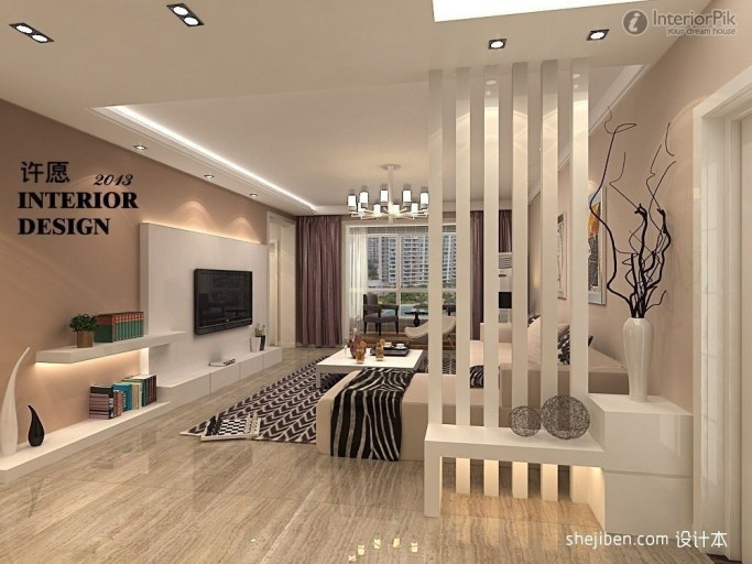 Modern Living Room Partition Ideas23