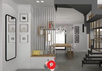Modern Living Room Partition Ideas33