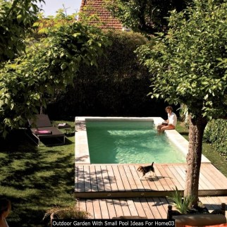 Outdoor Garden With Small Pool Ideas For Home03