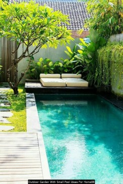 Outdoor Garden With Small Pool Ideas For Home08