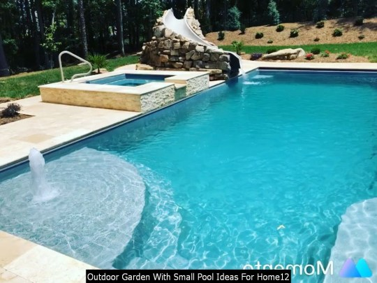 Outdoor Garden With Small Pool Ideas For Home12