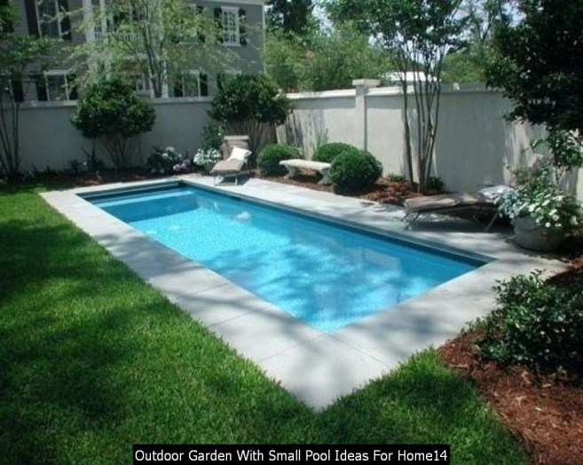 Outdoor Garden With Small Pool Ideas For Home14