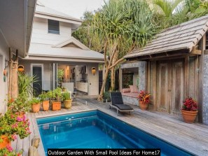 Outdoor Garden With Small Pool Ideas For Home17