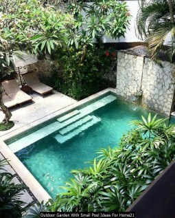 Outdoor Garden With Small Pool Ideas For Home21