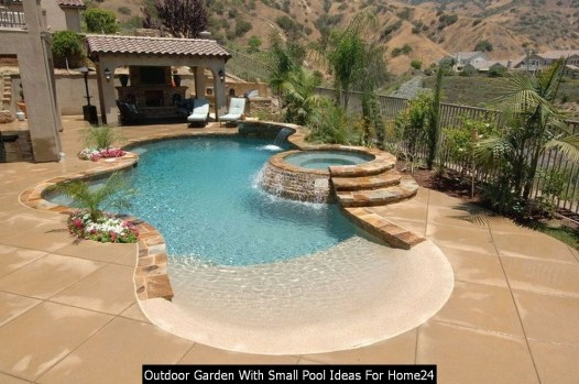 Outdoor Garden With Small Pool Ideas For Home24