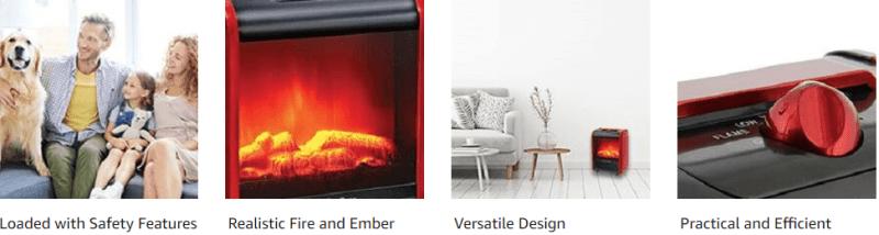 Tabletop Fireplace Heater