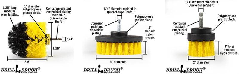 Drillbrush Bathroom Surfaces Cleaning Kit