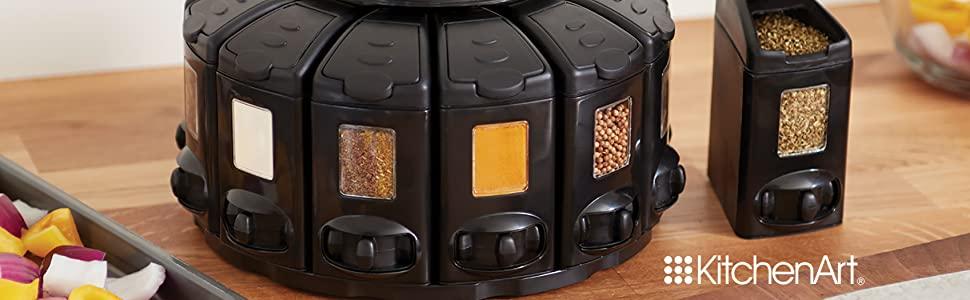 KitchenArt 25000 Select-A-Spice Auto-Measure Carousel Professional Series