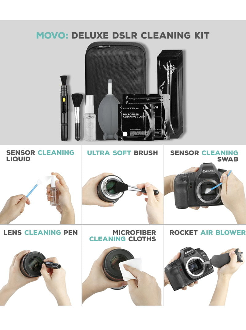 Movo Deluxe Essentials DSLR Camera Lens Cleaning Kit PRO