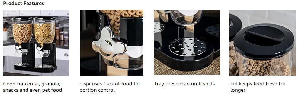 Zevro KCH-06121 GAT200 Indispensable Dry Food Dispenser