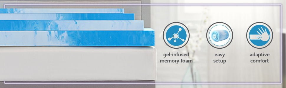 Comfort Revolution 4 Gel-Infused Memory Foam Mattress Topper
