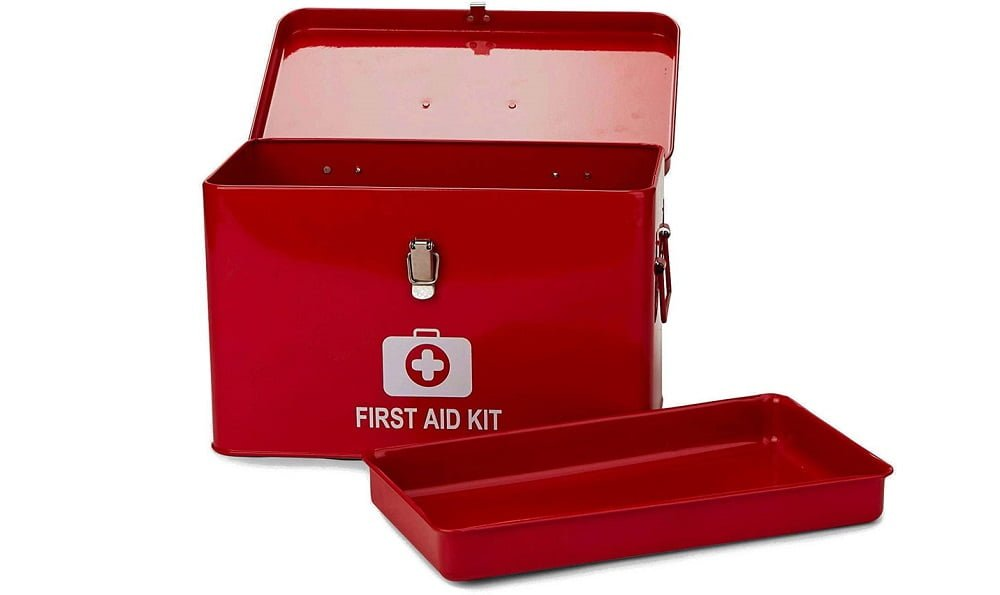 Mind Reader Vintage First Aid Box