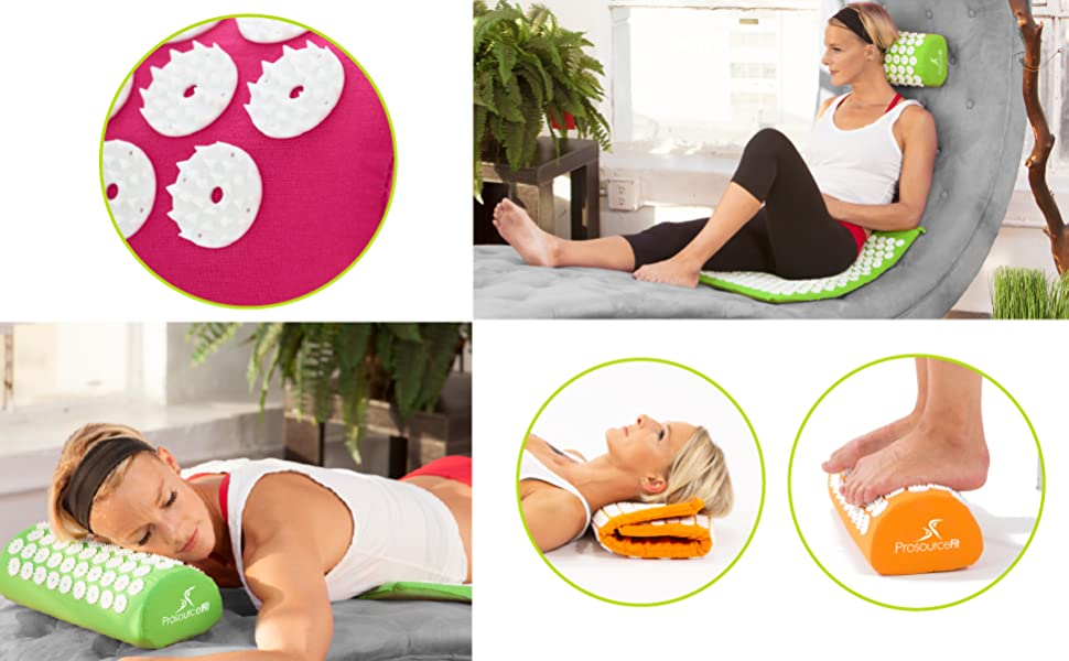 ProsourceFit Acupressure Mat and Pillow Set 2