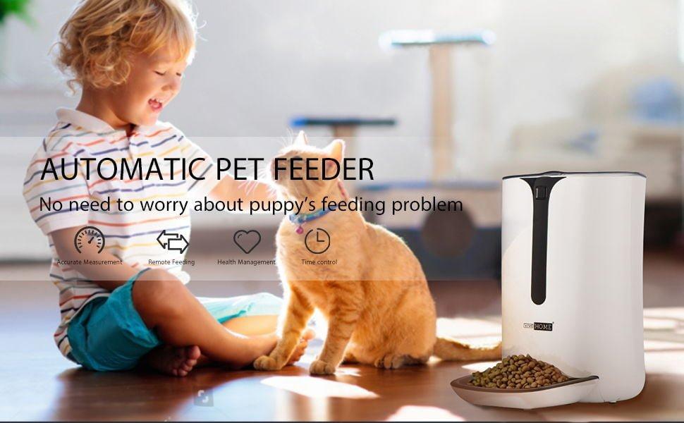 VIVOHOME 6.5L Automatic Pet Feeder