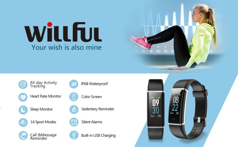 Willful Fitness Tracker IP68 Swimming Waterproof