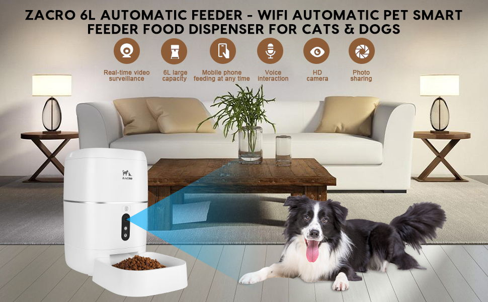Zacro 6L Automatic Pet Smart Feeder