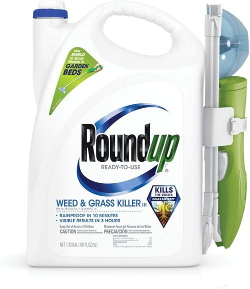 round up household product kills weeds