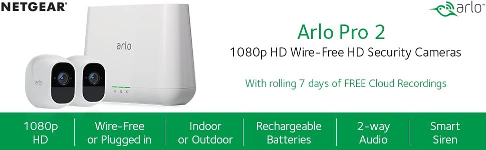 arlo pro 2 smart home wifi camera