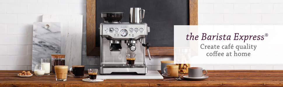 breville barista express home espresso machine