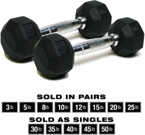SPRI Dumbbells Hand Weights Deluxe 2