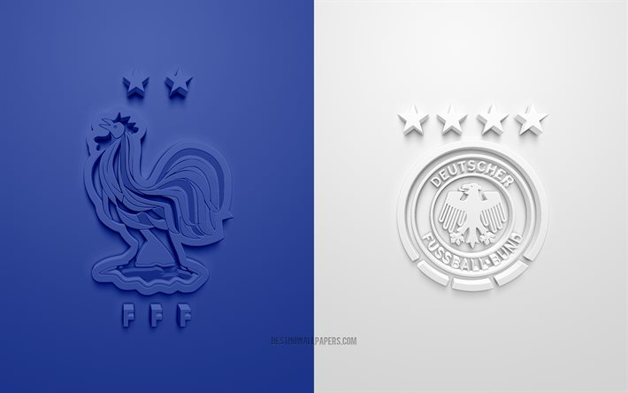Winning the national championship is a (sometimes contentious) moment of triumph. Download Wallpapers France Vs Germany Uefa Euro 2020 Group F 3d Logos White Blue Background Euro 2020 Football Match France National Football Team Germany National Football Team For Desktop Free Pictures For