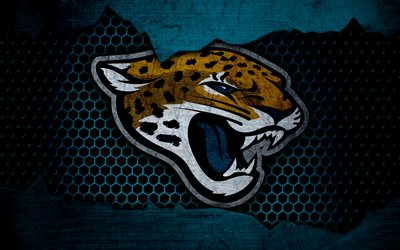 Download Wallpapers Jacksonville Jaguars 4k Logo NFL