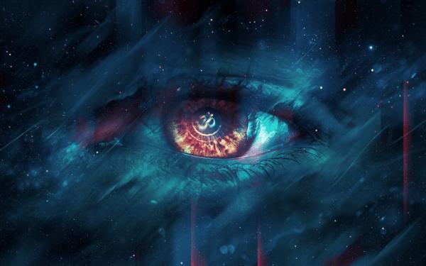 Download wallpapers human eye darkness creative art