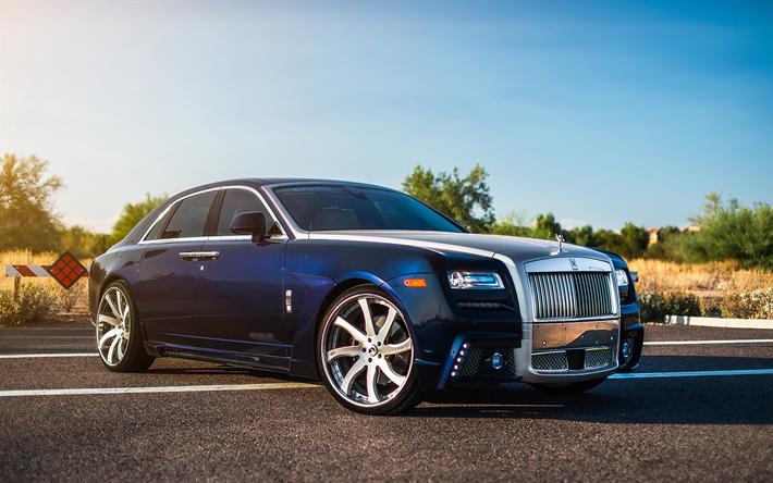 Download Wallpapers Rolls Royce Ghost Luxury Car Blue