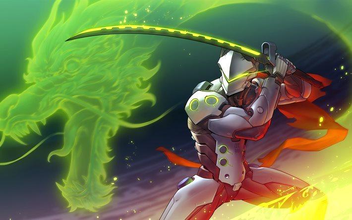 Download Wallpapers Genji 4k Characters Overwatch For Desktop Free Pictures For Desktop Free