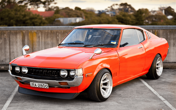 It's time for the ultimate celica to have its day. Download Wallpapers Toyota Celica Liftback 1977 2000 St Ra35 Retro Sports Car Japanese Classic Cars Sports Coupe Orange Celica Front View Japanese Cars Toyota For Desktop Free Pictures For Desktop Free