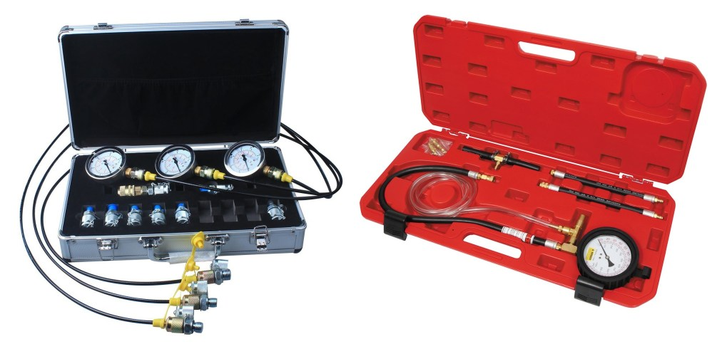 Pratical Hydraulic Pressure Test Set with Gauge and Testing Point Coupling Hose Connector for Construction Machiner Hydraulic Pressure Test Kit,Jarchii Hydraulic Pressure Test Kit