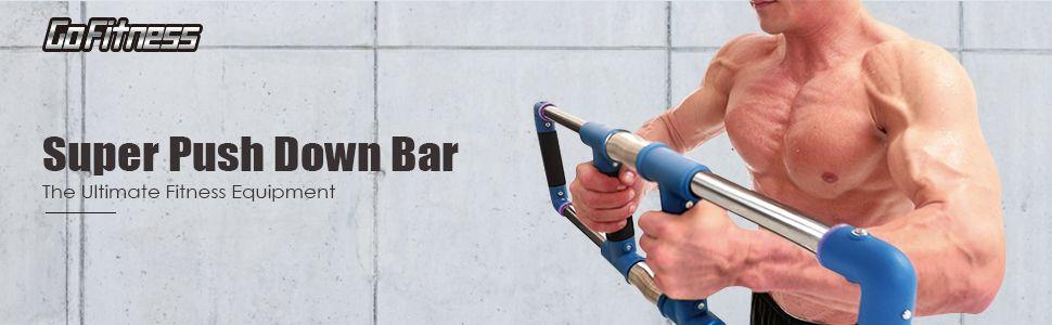 GoFitness Push Down Bar Machine